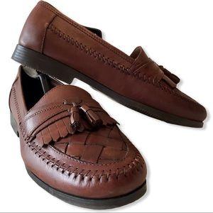 Giorgio Brutini Leather Tassel Loafers - 10M